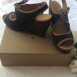 COCLICO Cork & Fabric Wedges NEW